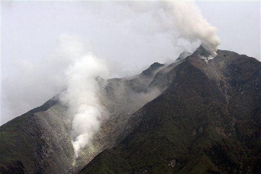 Mount Sinabung in Sumatra Fotoquelle: Post Jakarta