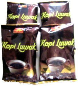 4 Päckchen Kopi Luwak gemahlen zu je 185 gr.