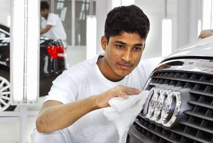 A6-Montage im indischen Aurangabad. Mit der Fertigungsaufnahme in Indonesien will die Marke ihre Position in den ASEAN-Staaten stärken. Foto: Audi/Auto-Reporter.NET