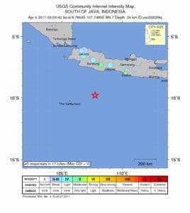 Erdbeben vom 04.04.2011 vor Java Grafik: earthquake.usgs.gov
