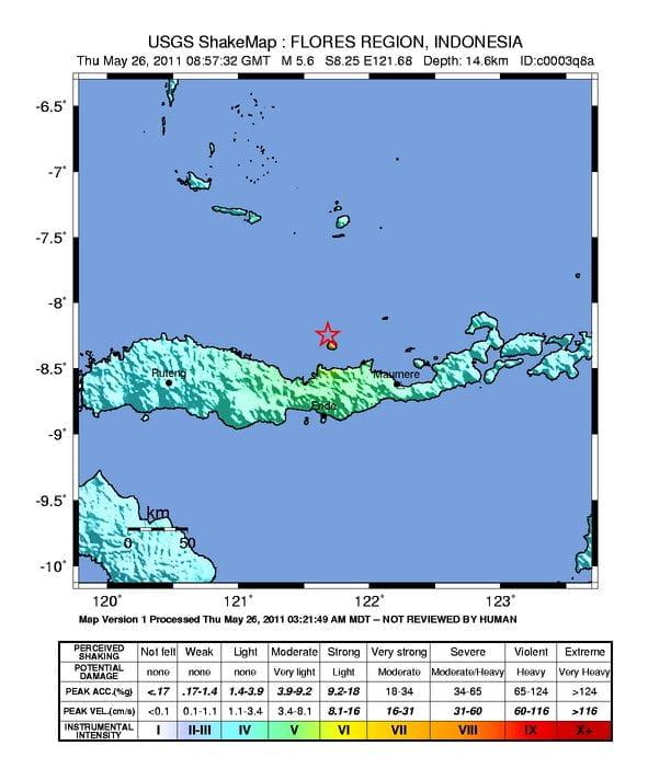 Lage des Erdbebens Quelle: earthquake.usgs.gov