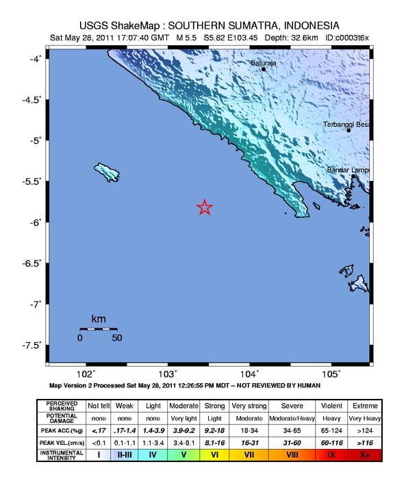 Erdbeben Zetrum nahe der Küste Sumatras Grafikquelle: earthquake.usgs.gov