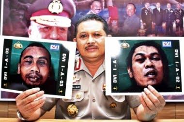 Veröffentlichte Fotos der Polizei Foto: Jakarta Post