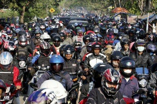 Verstopfte Straßen soweit das Auge sehen kann Fotoquelle: Jakarta Post