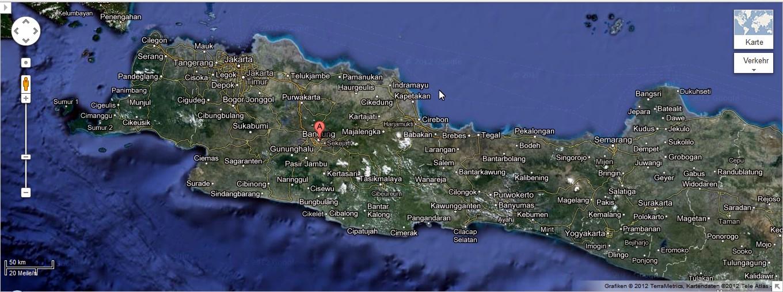 Bandung in West Jawa Indonesien Foto: Google Maps