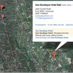 Lage des Sun Boutique Hotels