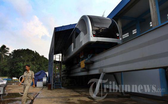 geplante Monorail in Jakarta Fotoquelle: tribunenews.com