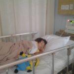 Sarah im Krankenhaus