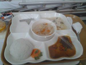 Das Essen im EKA Hospital