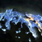 blauer Vulkan