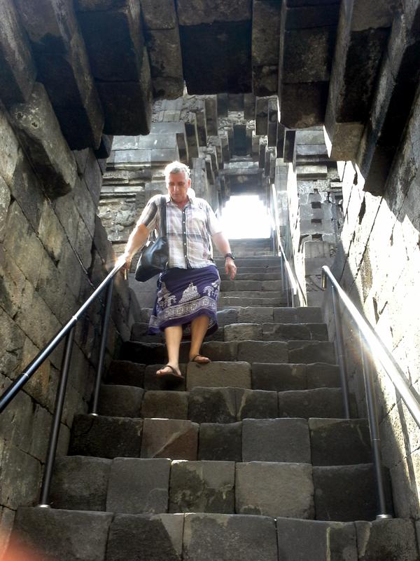 Aufstieg Borobudur