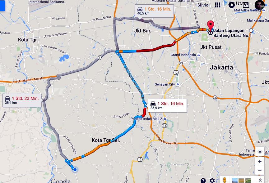 Route Foto: Google Maps