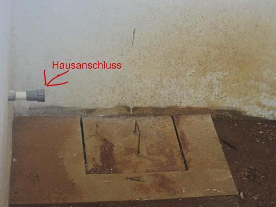 Wasserhausanschluss