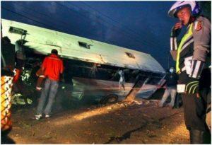 Schwerer Busunfall in Indonesien / Screenshot: Jakarta