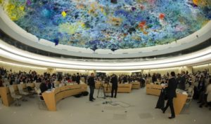 Indonesien verweigert Internetfreiheit / Screenshot: netzpolitik.org Sitzung des UN-Menschenrechtsrats. Foto: CC-BY-ND 2.0, United States Mission Geneva.
