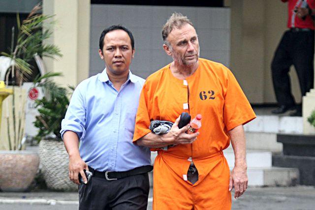 Brite mit Drogen verhaftet / Screenshot: Jakarta Post - 03.08.2016