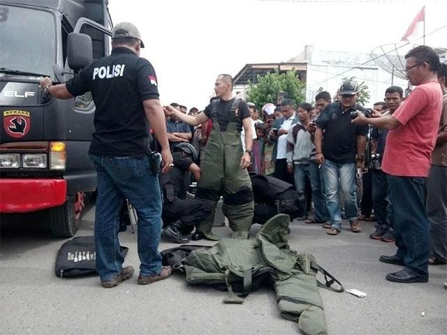 Bombe vor einem buddhistischen Tempel / Foto: Jakarta Post - (JP / Hotli Simanjuntak)