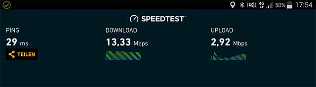 Speedtest Handytarif XL 4G 11.06.2017 BSD-City
