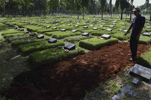 Vorbereitete Grabanlagen für den Exodus / Foto Jakarta Post - (Antara Foto / Hafidz Mubarak A)
