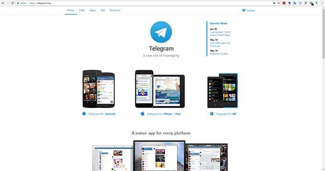 Über meinen ISP ist Telgram.org noch erreichbar
