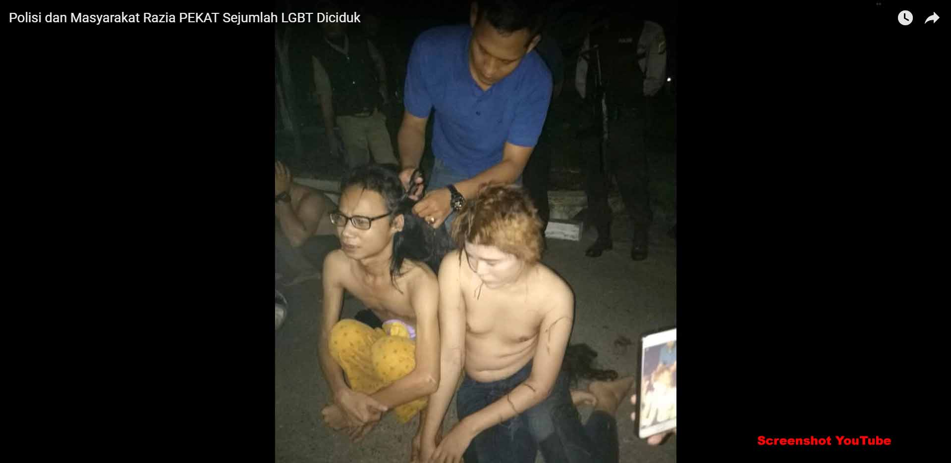 12 Transgender durch Sharia-Polizei in Aceh misshandelt / Screenshot YouTube