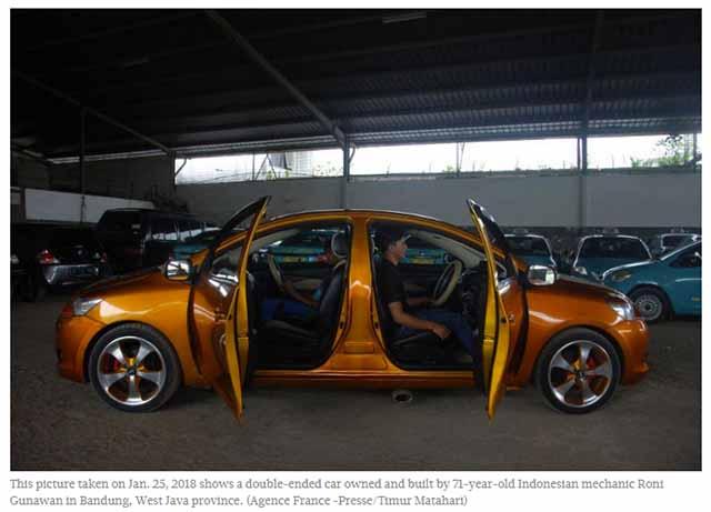 Zwei Front Auto von Behörden beschlagnahmt / Screenshot: thejakartapost.com