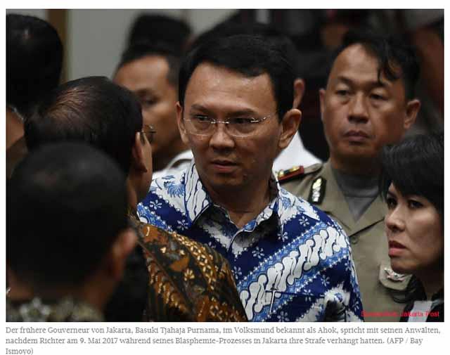 Wird Ahok Fall neu aufgerollt? Screenshot: Jakarta Post