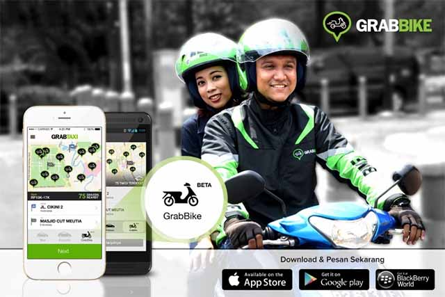 Grab übernimmt Uber in Indonesien / Screenshot: techinasia.com/grabtaxi-grabbike-motorcycle-service-jakarta