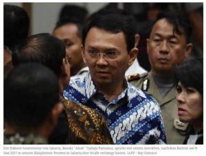 Ahok Blasphemie Berufung abgewiesen / Screenshot: Jakarta Post