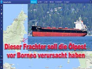 Frachter soll Ölteppich ausgelöst haben / Bilder: marinetraffic.com