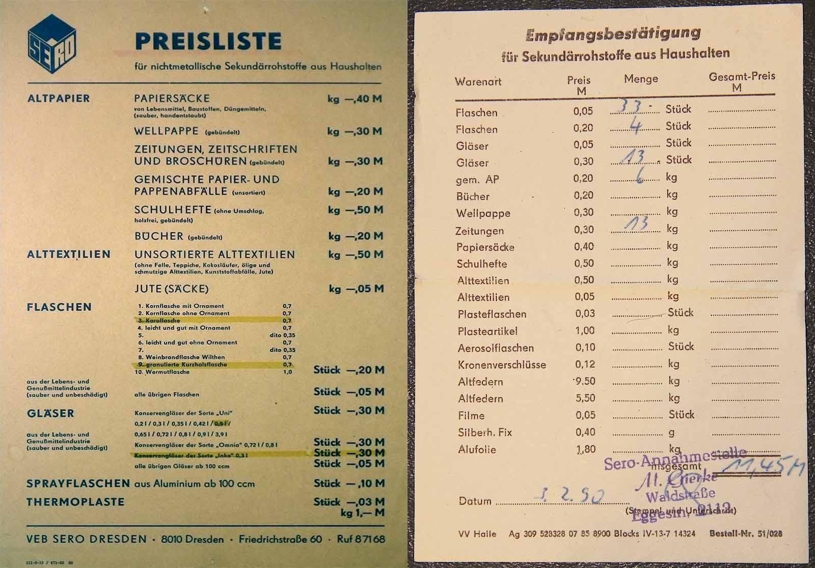 Altstoffpreisliste der DDR, Foto Wikipedia