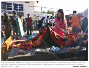 Erdbeben auf Lombok / Screenshot: Jakarta Post