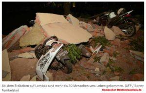 Erdbeben: Lombok kommt nicht zur Ruhe / Screenshot: Deutschlandfunk.de