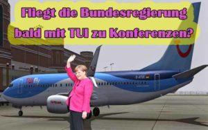 Nagerbefall in deutscher Regierungsmaschine auf Bali - Fliegt die Bundesregierung bald mit TUI zu Konferenzen? (Fotomontage: Bayi.de)