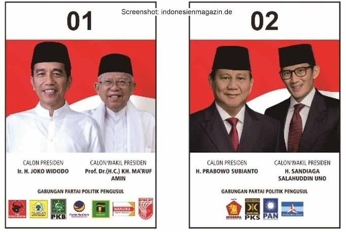 Morgen wählt Indonesien den neuen Präsidenten