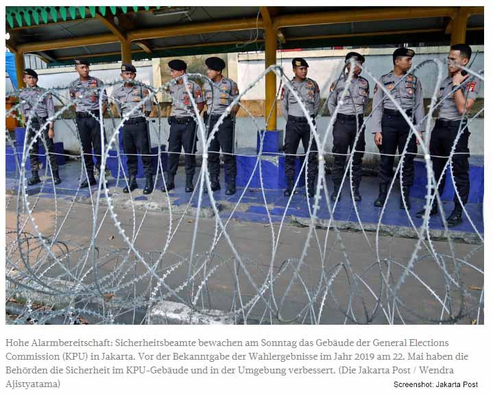 Joko Widodo offiziell zum Wahlsieger gekürt / Screenshot: Jakarta Post