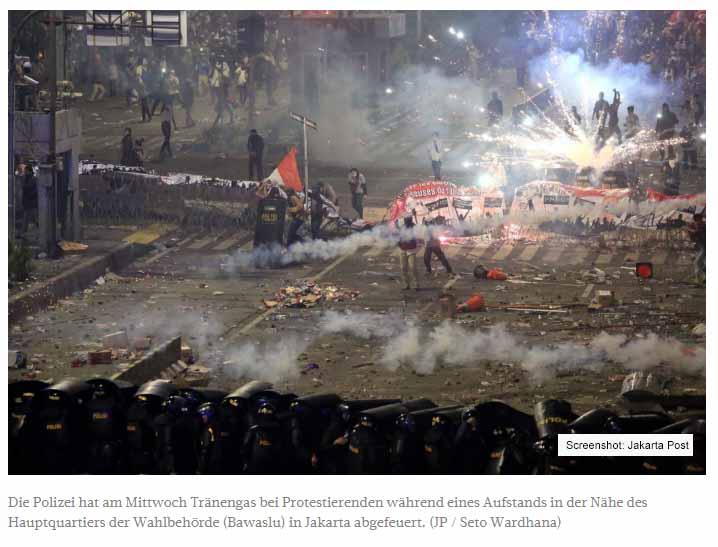 Journalisten beklagen Pressefreiheit bei den Ausschreitungen in Jakarta!