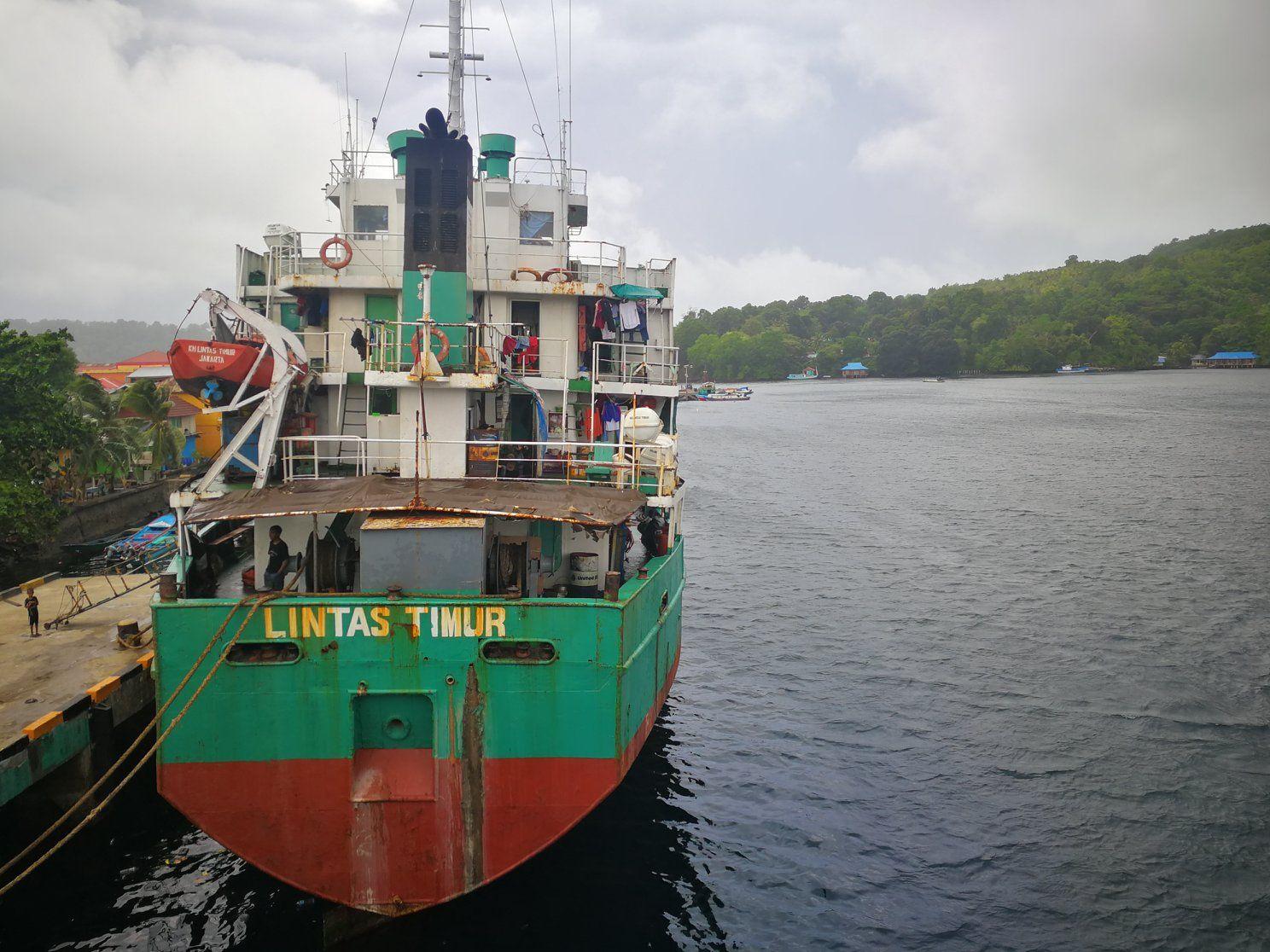 Frachter Lintas Timur / Foto: polarsteps.com